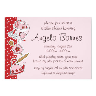 Retro Kitchen Wedding Shower Invitations