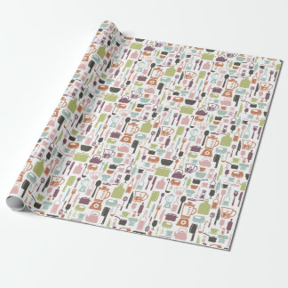 Retro Kitchen Wrapping Paper