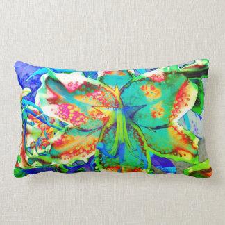 Retro kiwi Lily Lumbar Pillow