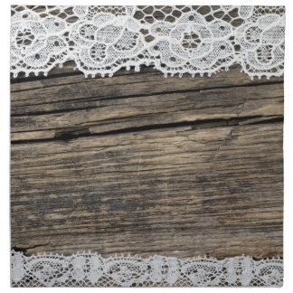 retro lace on the wooden background napkin