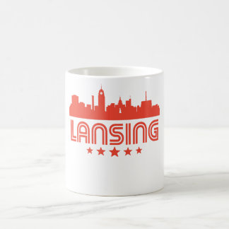 Retro Lansing Skyline Coffee Mug