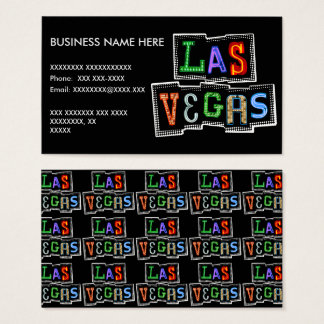 Retro Las Vegas Neon Business Card