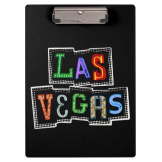 Retro Las Vegas Neon Clipboard