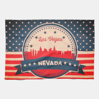 Retro Las Vegas Nevada Skyline Towel
