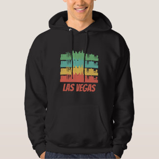 Retro Las Vegas NV Skyline Pop Art Hoodie