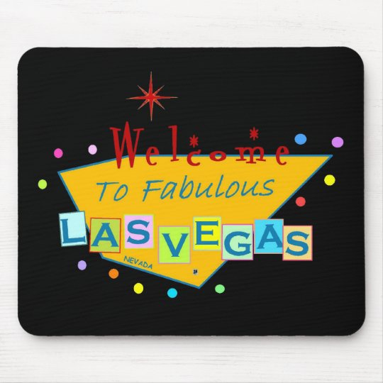 Retro Las Vegas Sign Mousepad