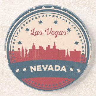 Retro Las Vegas Skyline Beverage Coasters