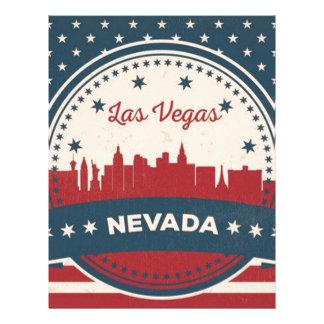 Retro Las Vegas Skyline Letterhead