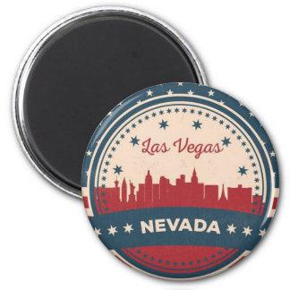 Retro Las Vegas Skyline Magnet