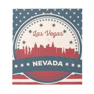 Retro Las Vegas Skyline Notepad