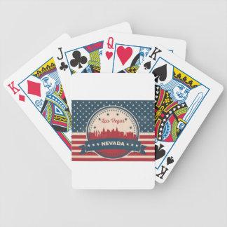 Retro Las Vegas Skyline Poker Deck