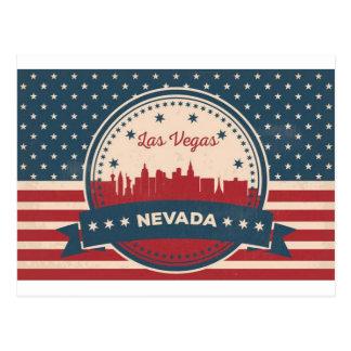 Retro Las Vegas Skyline Postcard