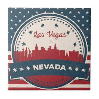 Retro Las Vegas Skyline Tile