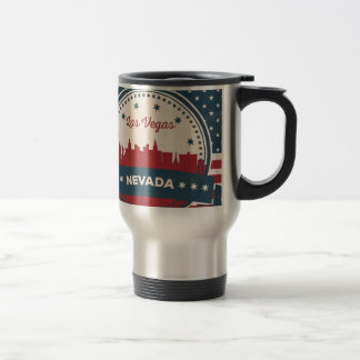 Retro Las Vegas Skyline Travel Mug