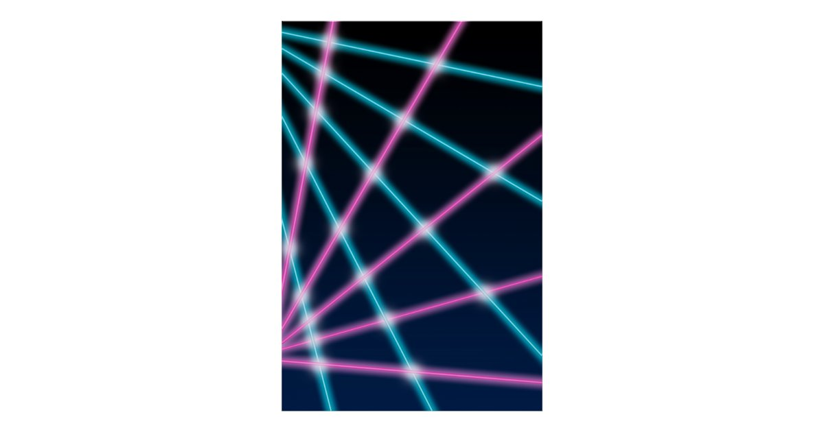 Retro Laser Beam School Portrait Photo Backdrop Poster Zazzleca