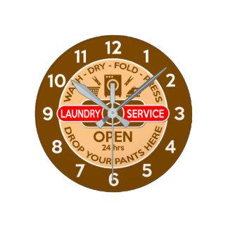 Retro Launderette Clock