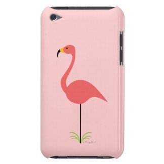 Retro Lawn Flamingo with Customizable Background Case-Mate iPod Touch Case