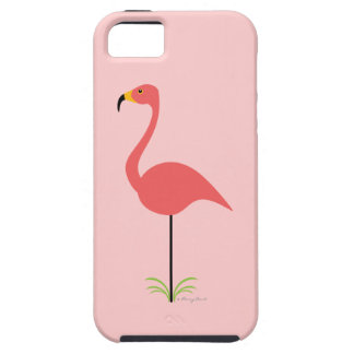 Retro Lawn Flamingo with Customizable Background iPhone 5 Cover