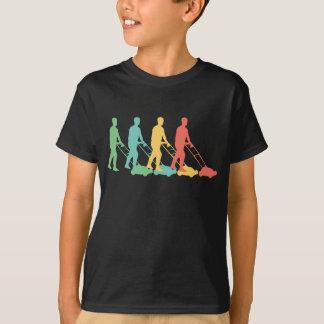 Retro Lawn Mowing Pop Art T-Shirt
