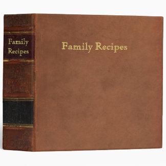 Retro leather look: Antique family recipes Binder