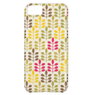Retro leaves batik rustic boho chic nature pattern iPhone 5C cases