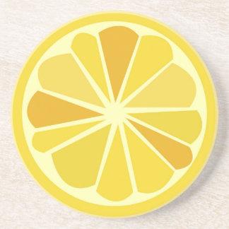 Retro lemon drink coasters