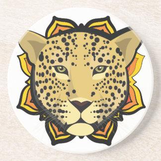 Retro Leopard Drink Coaster
