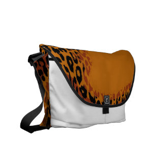 Retro Leopard Print Skin and Modern design 3 Messenger Bags