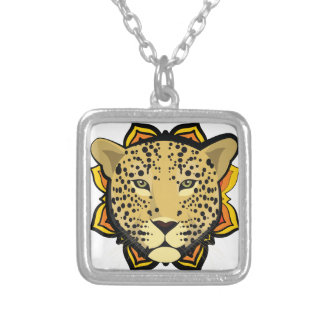 Retro Leopard Silver Plated Necklace