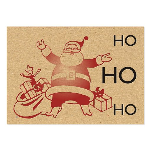 Retro Letterpress Santa Tag Business Card Templates