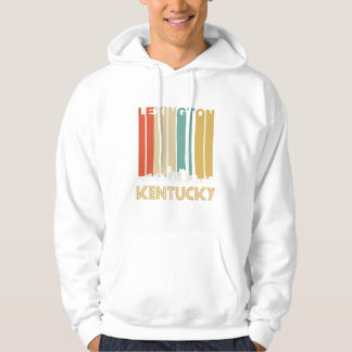 Retro Lexington Kentucky Skyline Hoodie