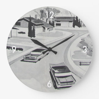 Retro-licious 60s Modern BW Clocks