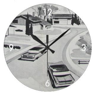 Retro-licious 60s Modern BW Large Clock