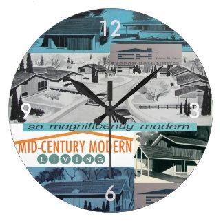 Retro-licious 60s Modern Mosaic! Large Clock