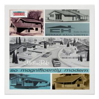 Retro-licious 60s Modern Mosaic! Poster