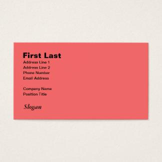 Retro Light Pink Squares vs Modern Dark Salmon Business Card