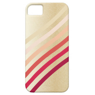 Retro Lightly Faux Gold Waves of Neutral to Red iPhone 5 Covers