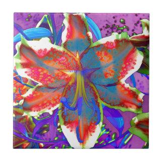 Retro Lily Ceramic Tiles