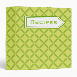 Retro Lime Recipe Binder