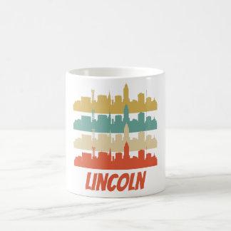 Retro Lincoln NE Skyline Pop Art Coffee Mug