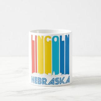 Retro Lincoln Nebraska Skyline Coffee Mug
