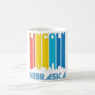 Retro Lincoln Skyline Coffee Mug