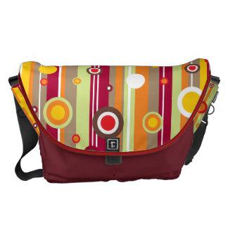 Retro Line Circles Vector Commuter Bags