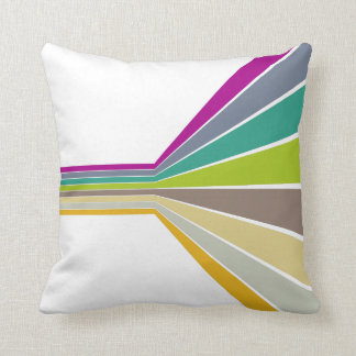 Retro Lines Throw Pillow