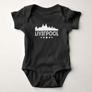 Retro Liverpool Skyline Baby Bodysuit