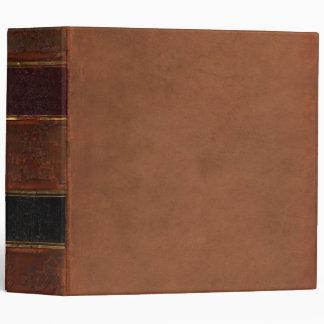 Rétro livre antique, brun attaché de cuir de faux classeurs 3 anneaux