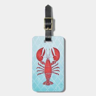 Retro Lobster Luggage Tag