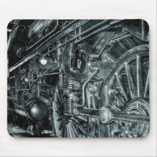 Retro Locomotive Railroad Steam Engine Mouse Pad