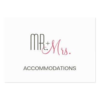 Rétro logement moderne de mariage cartes de visite personnelles