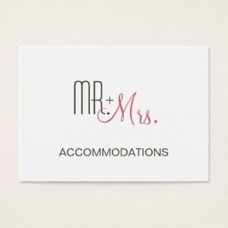 Rétro logement moderne de mariage cartes de visite